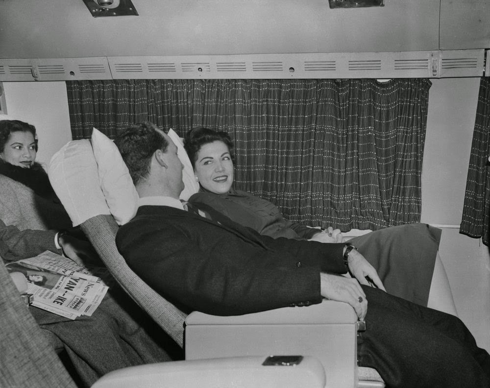 Golden Age Air Travel Reclining