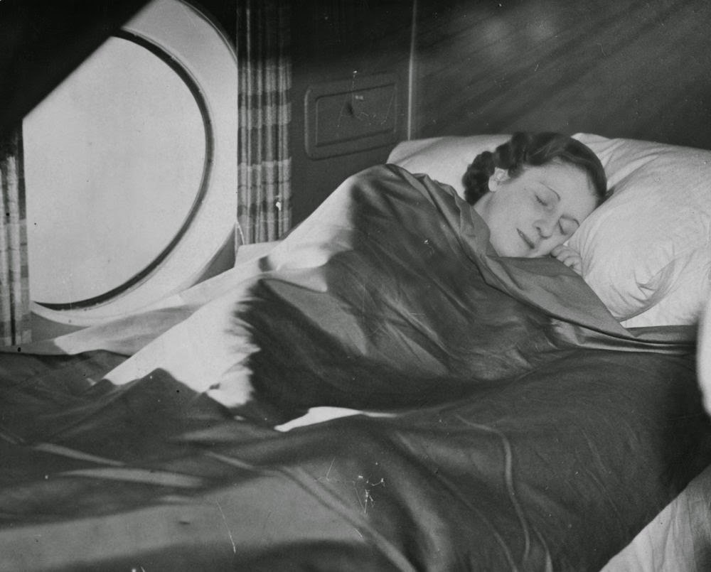 Golden Age Air Travel Sleep