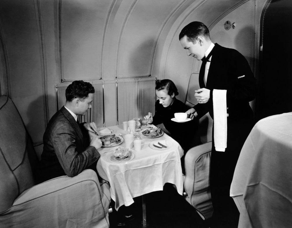 Golden Age Air Travel Waiter