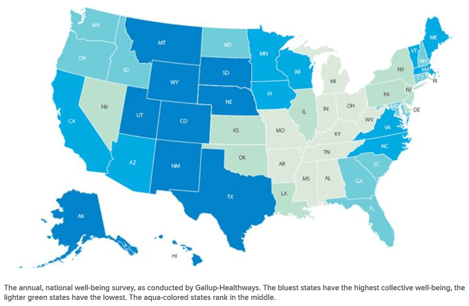 Happiest States In The United States