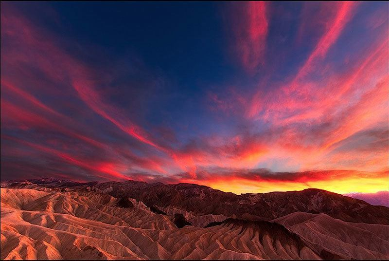 Beautiful Sunset Death Valley