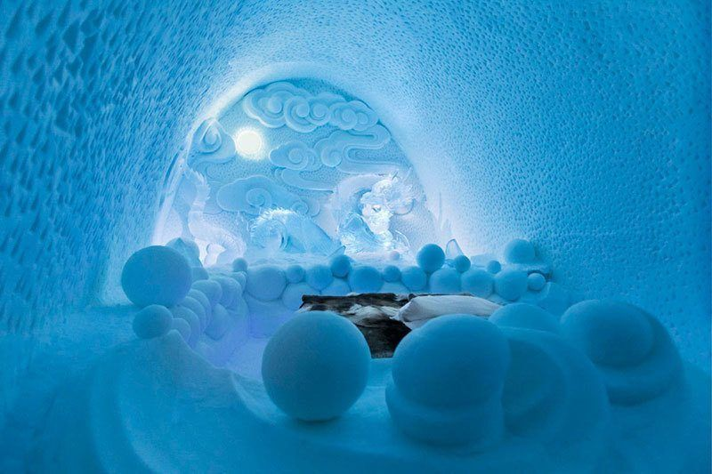 Local Artists Design Art Suites in Ice Hotel