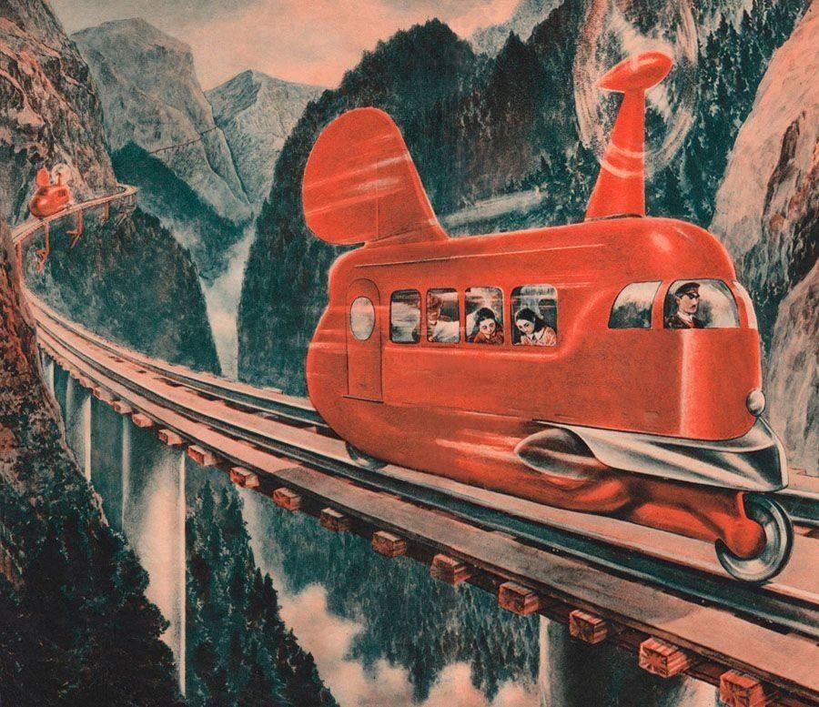 japanese futurism monorail