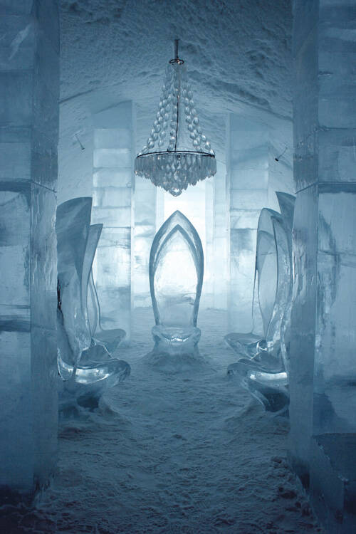 Main Hall In Ice Hotel