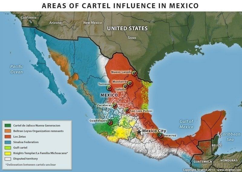 Mexican Drug Cartels Map