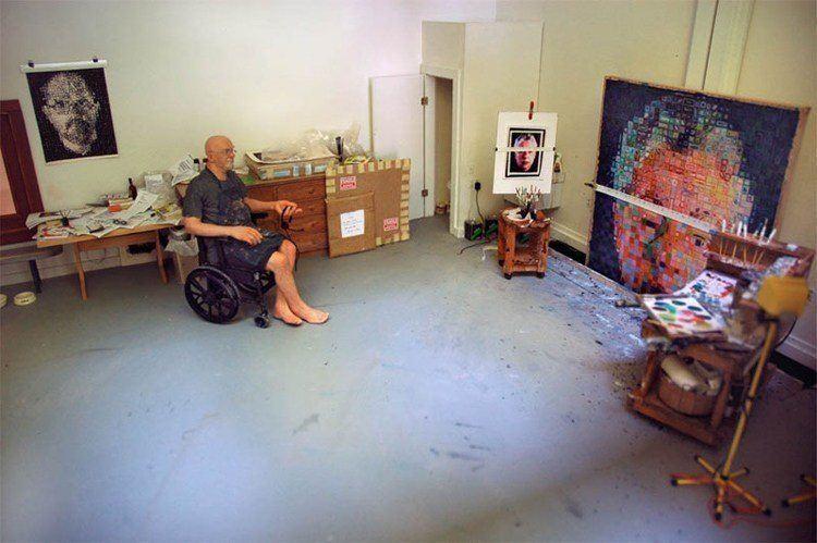 mini art studio chuck close