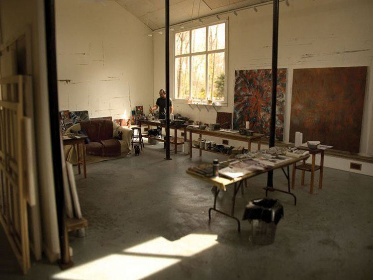 mini art studio ross bleckner