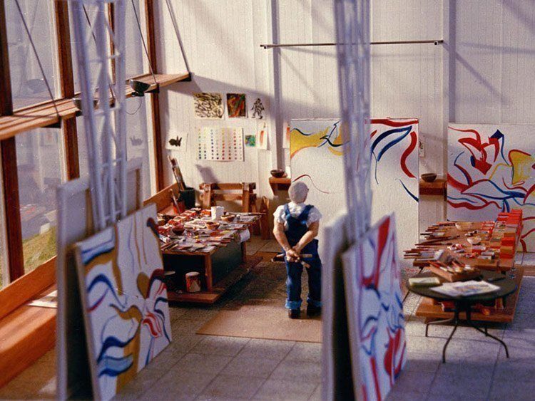 mini art studio williem de kooning