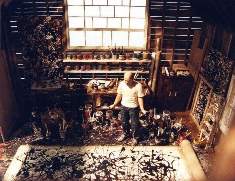 mini art studio jackson pollock