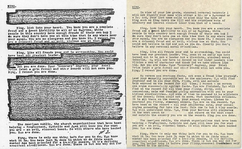 COINTELPRO Letter To Martin Luther King