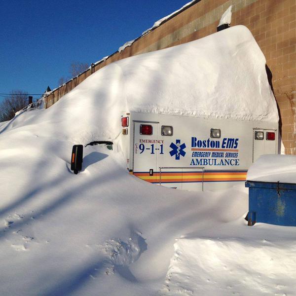 Ambulance northeast snow