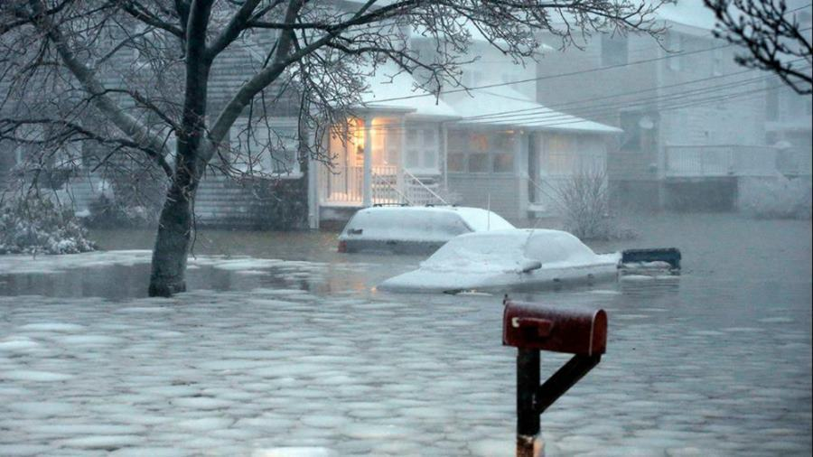 Flooding during northeast snow