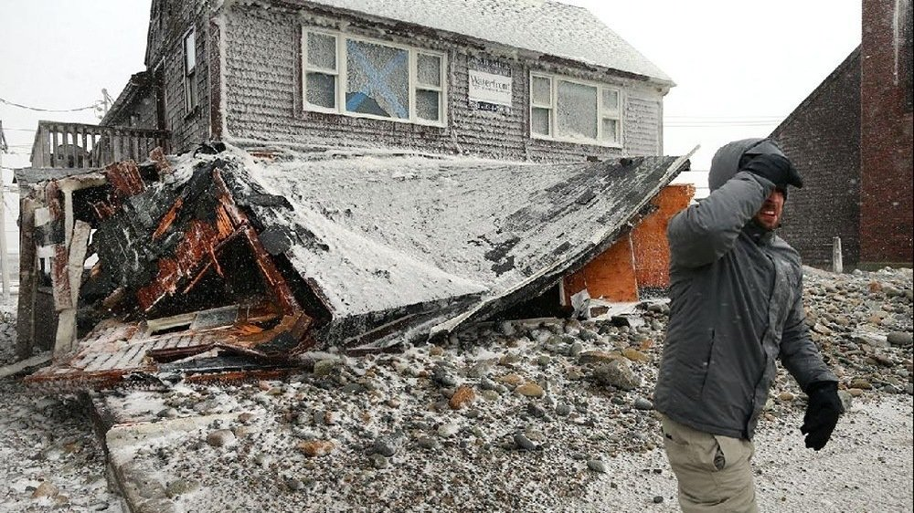 House damage 2015 northeast snow