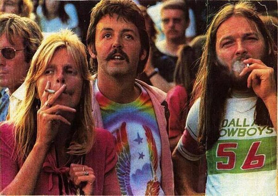 Paul McCartney David Gilmour 1976 Concert