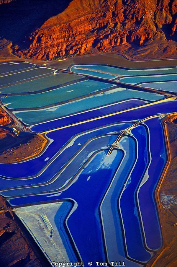 Blue Potash Evaporation Ponds