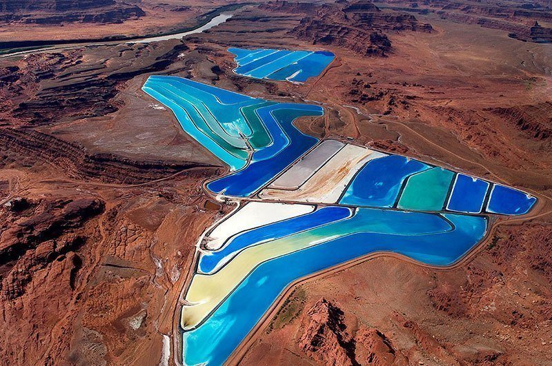 Colorful Evaporation Ponds in Moab