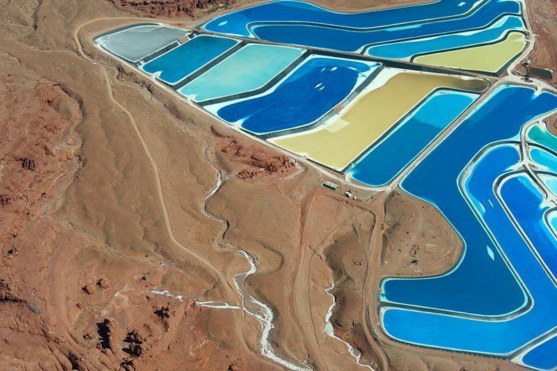 Colorful Evaporation Ponds in Utah