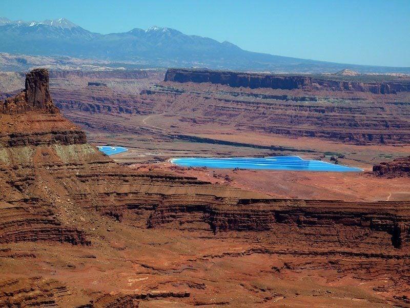 Utah Potash Evaporation Ponds