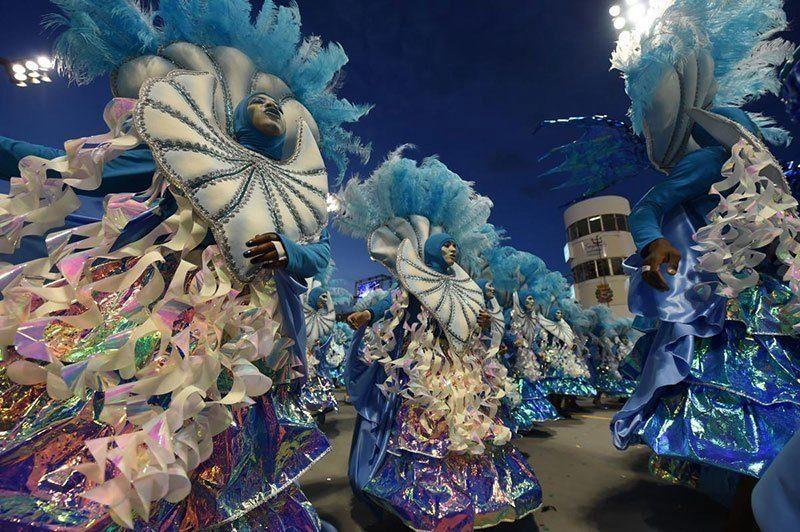 Colorful Carnival in Rio de Janeiro