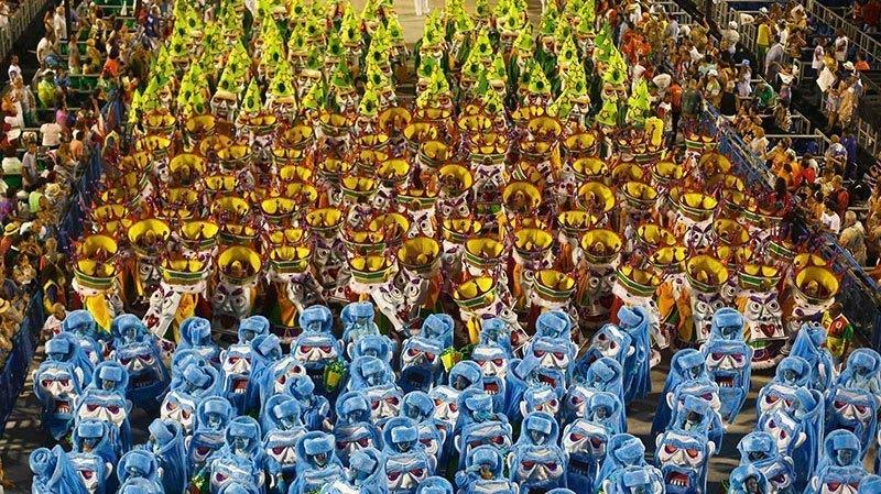 Carnival Crowds in Rio de Janeiro