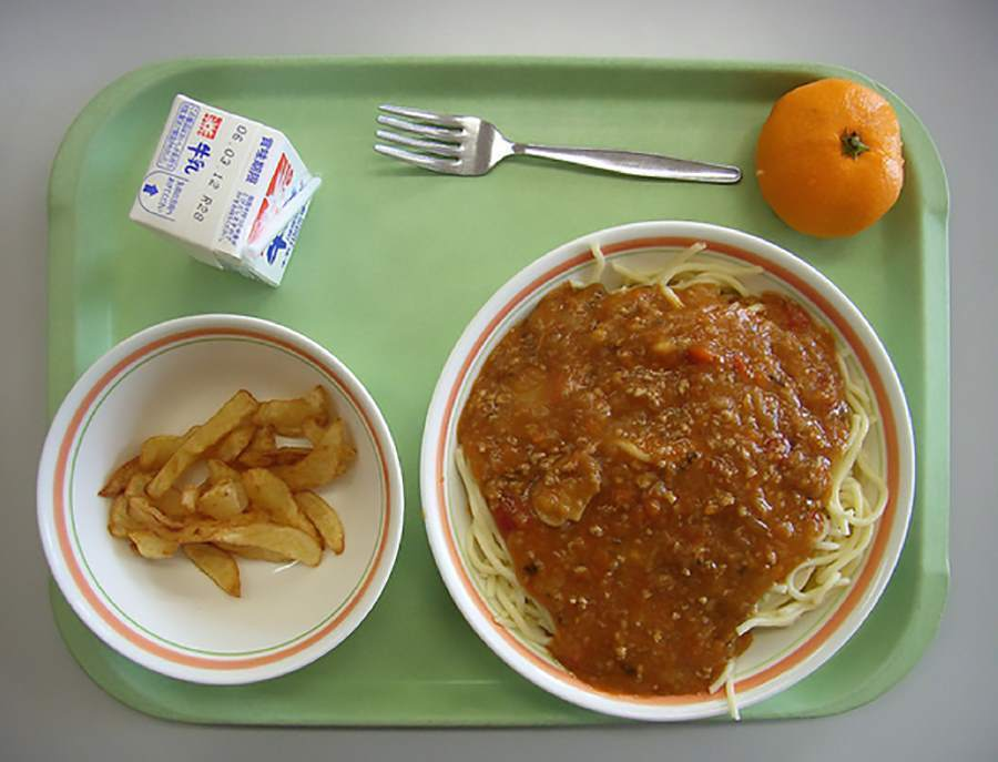 School lunches Spaghetti