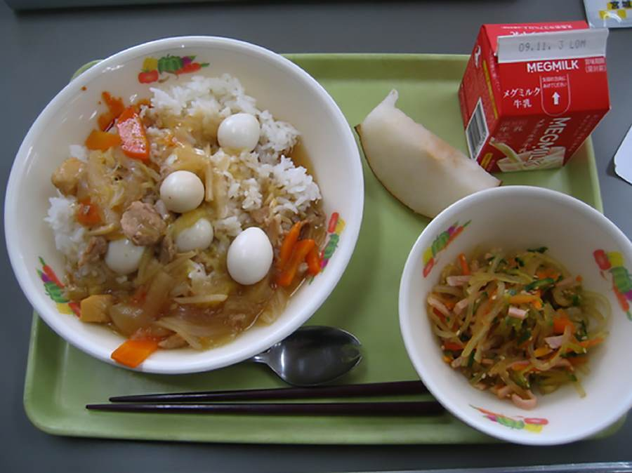 School lunches Japan Eggs