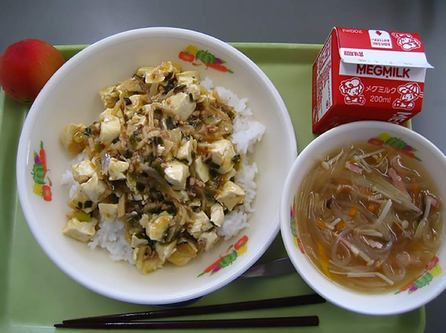 School lunches Japan Tofu