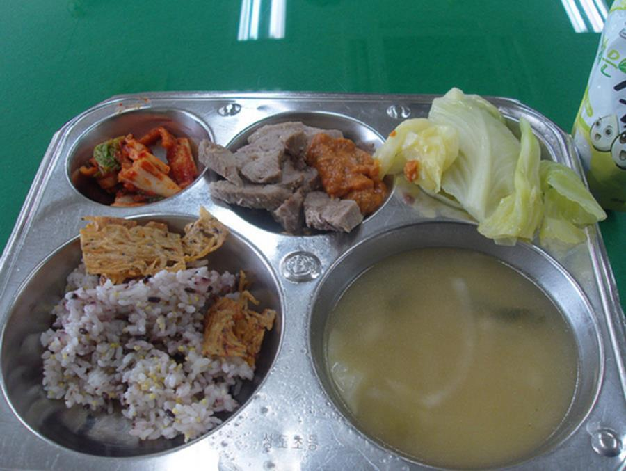 School lunches Korea Pork