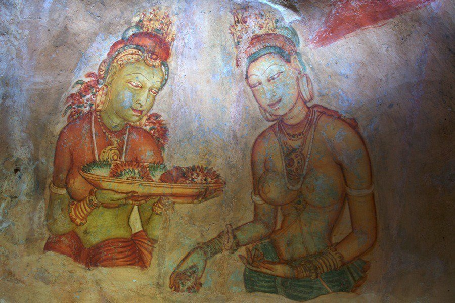 Sigiriya Palace Damsels Fresco
