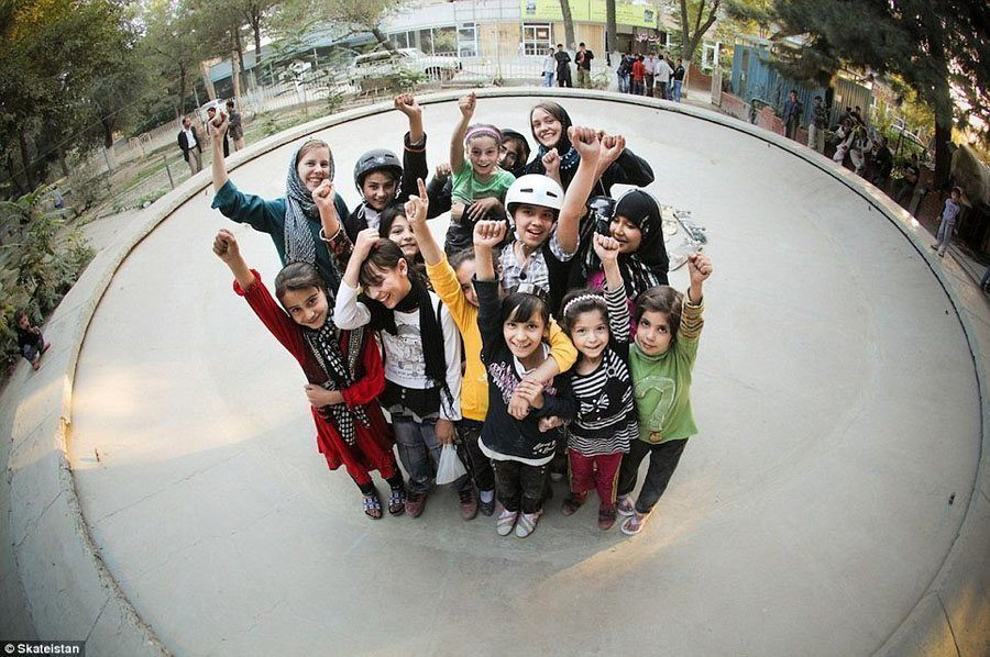 Girl Skateboarding At Skateistan