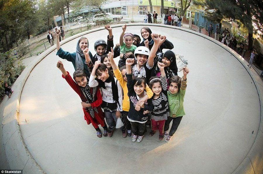 Girl Skateboarding At Skateistan