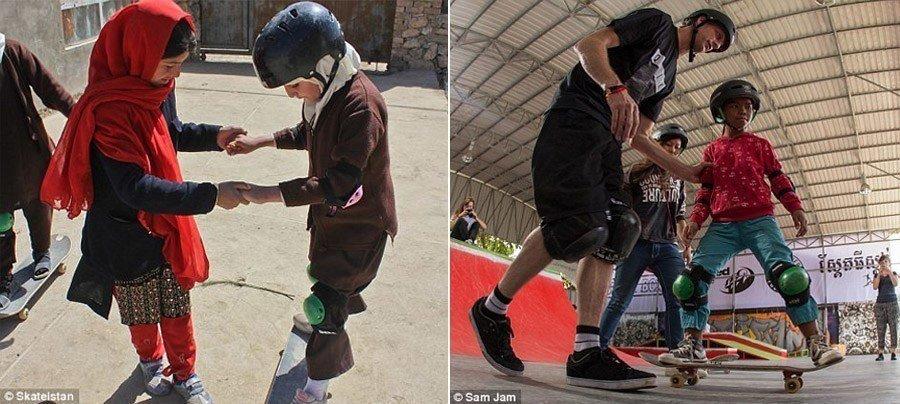 skateboarding school tony hawk kids afghanistan