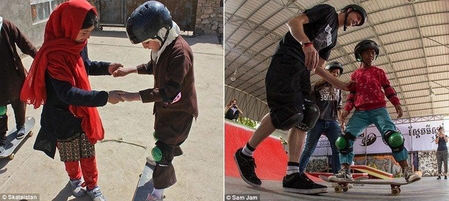 Skateboarding In Kabul
