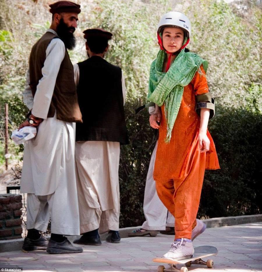 skateboard school independent lady afghanistan