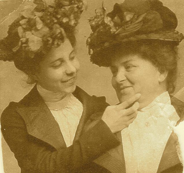 Smiling Victorian Sisters
