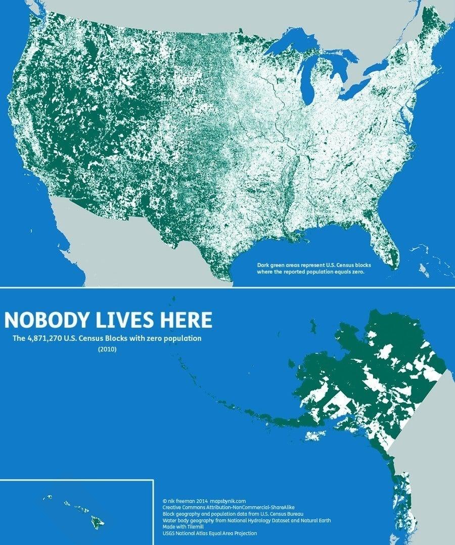 Uninhabited America