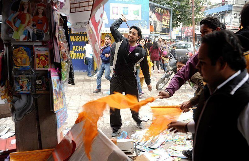 Hindu Protests Against Valentine's Day