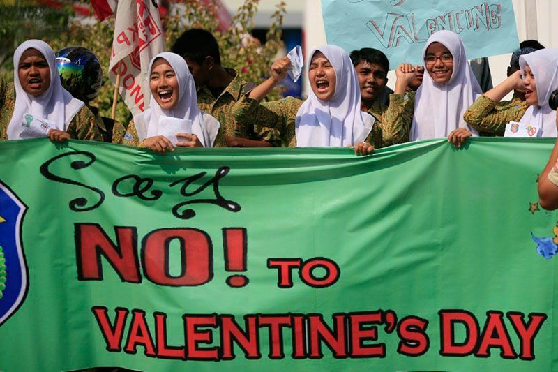 Indonesian Valentine's Day Protests