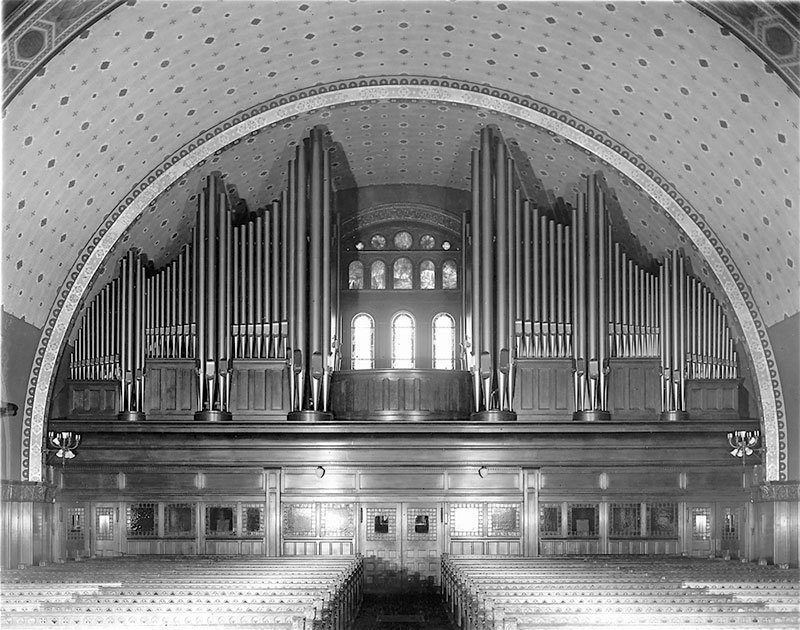Beautiful Organ in Detroit 1918