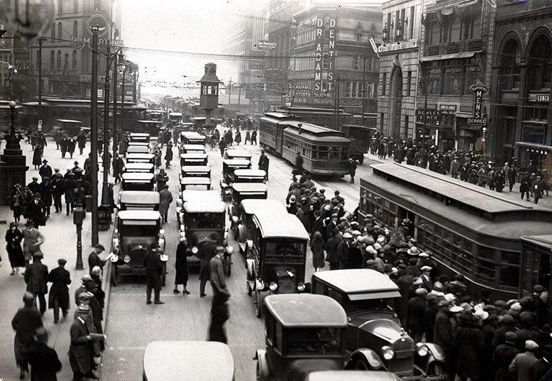 Detroit Streets in 1920