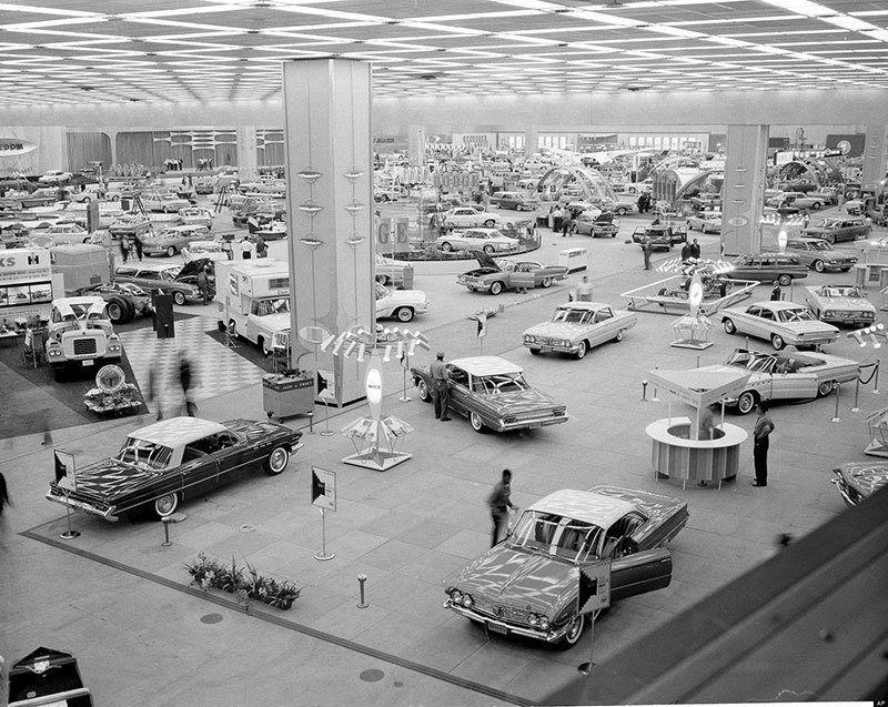 Vintage Detroit Auto Show 1960