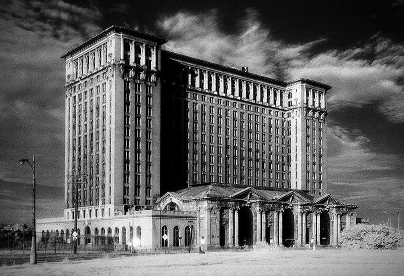 Vintage Detroit Michigan Central Station