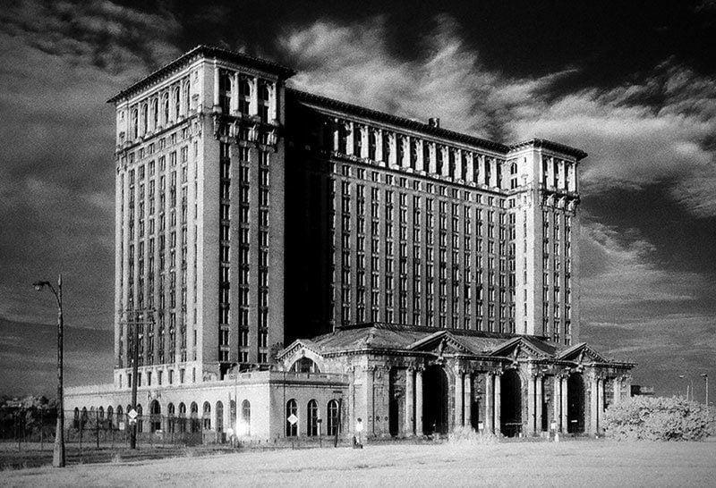 Vintage Detroit Michigan Central Station
