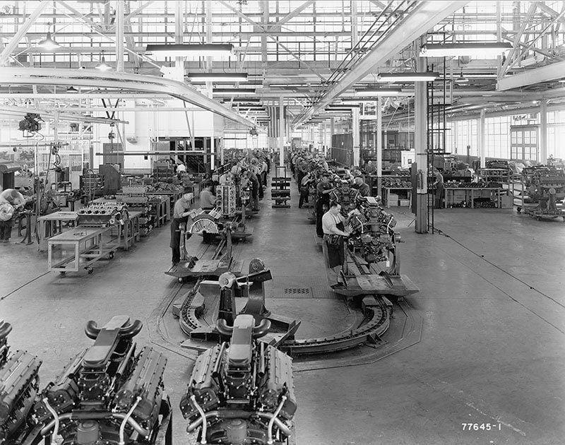Vintage Detroit During WWII
