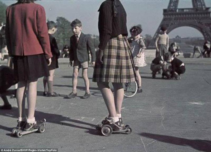 Children Playing Near Eiffel Tower