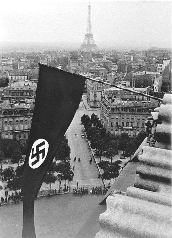 Nazi Flag Flying in Paris
