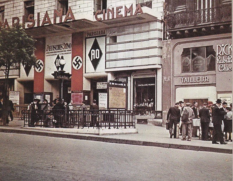 German-Occupied Theater in Vintage Paris