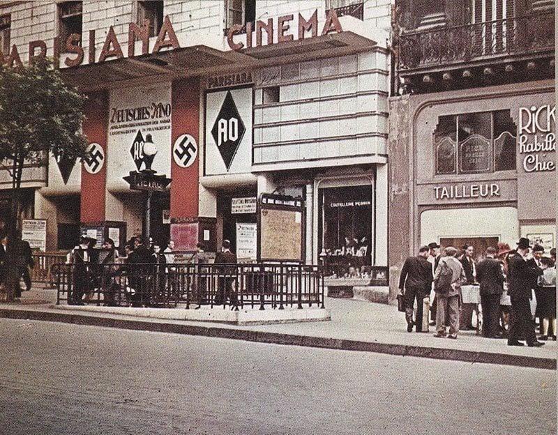 German-Occupied Theater in Vintage Paris