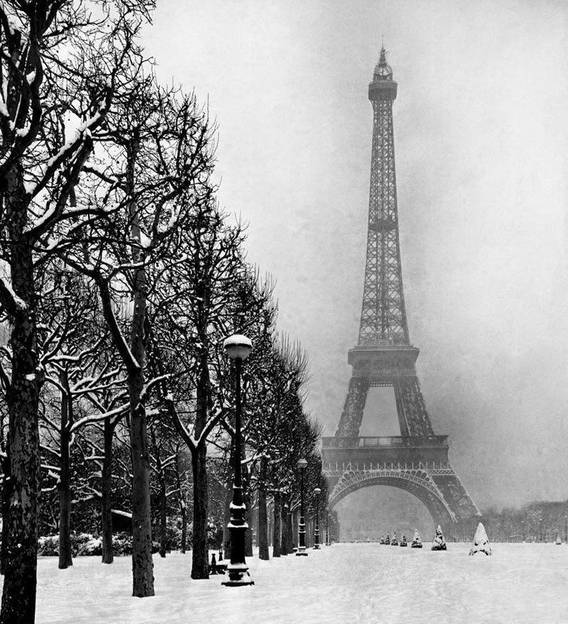 Snowy Day in Paris 1940s
