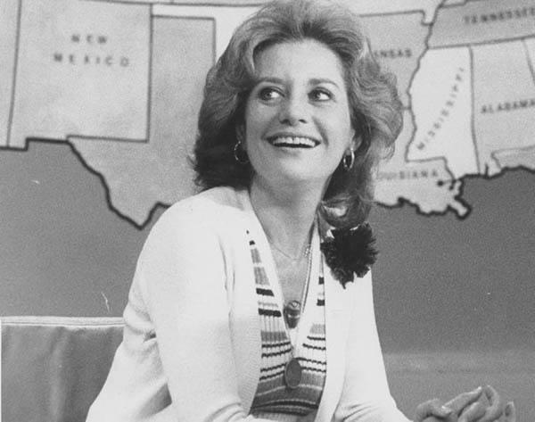 Barbara Walters At A News Desk